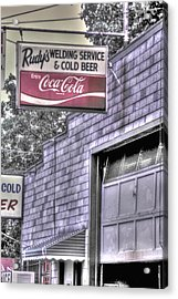 Maryland Country Roads - Some Things Just Go Together No. 1 - Rudys Welding And Cold Beer Acrylic Print
