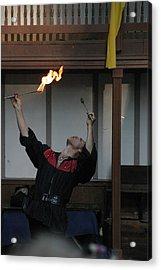 Maryland Renaissance Festival - Johnny Fox Sword Swallower - 1212104 Acrylic Print by DC Photographer