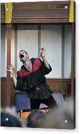 Maryland Renaissance Festival - Johnny Fox Sword Swallower - 1212114 Acrylic Print by DC Photographer