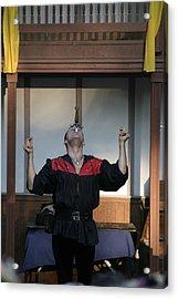 Maryland Renaissance Festival - Johnny Fox Sword Swallower - 1212116 Acrylic Print by DC Photographer