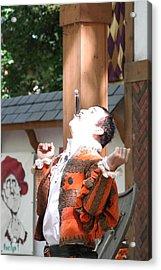 Maryland Renaissance Festival - Johnny Fox Sword Swallower - 121216 Acrylic Print by DC Photographer