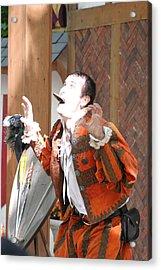 Maryland Renaissance Festival - Johnny Fox Sword Swallower - 121221 Acrylic Print by DC Photographer