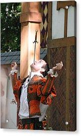 Maryland Renaissance Festival - Johnny Fox Sword Swallower - 121229 Acrylic Print by DC Photographer
