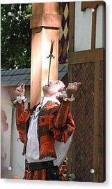 Maryland Renaissance Festival - Johnny Fox Sword Swallower - 121232 Acrylic Print
