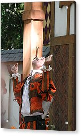 Maryland Renaissance Festival - Johnny Fox Sword Swallower - 121233 Acrylic Print by DC Photographer
