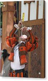Maryland Renaissance Festival - Johnny Fox Sword Swallower - 121243 Acrylic Print by DC Photographer