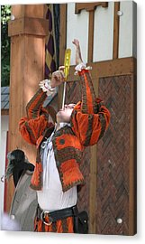Maryland Renaissance Festival - Johnny Fox Sword Swallower - 121244 Acrylic Print by DC Photographer