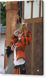 Maryland Renaissance Festival - Johnny Fox Sword Swallower - 121246 Acrylic Print by DC Photographer