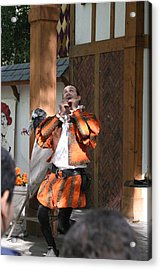 Maryland Renaissance Festival - Johnny Fox Sword Swallower - 121254 Acrylic Print by DC Photographer