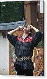 Maryland Renaissance Festival - Johnny Fox Sword Swallower - 121263 Acrylic Print by DC Photographer