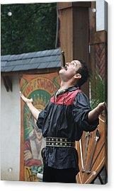 Maryland Renaissance Festival - Johnny Fox Sword Swallower - 121265 Acrylic Print by DC Photographer