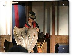 Maryland Renaissance Festival - Johnny Fox Sword Swallower - 121275 Acrylic Print by DC Photographer
