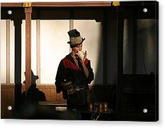 Maryland Renaissance Festival - Johnny Fox Sword Swallower - 121278 Acrylic Print by DC Photographer
