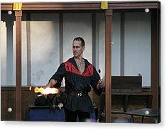 Maryland Renaissance Festival - Johnny Fox Sword Swallower - 121282 Acrylic Print by DC Photographer