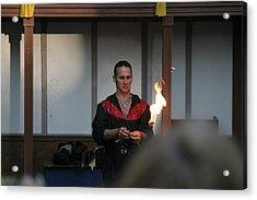 Maryland Renaissance Festival - Johnny Fox Sword Swallower - 121283 Acrylic Print by DC Photographer