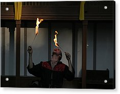 Maryland Renaissance Festival - Johnny Fox Sword Swallower - 121288 Acrylic Print by DC Photographer