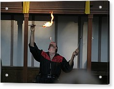 Maryland Renaissance Festival - Johnny Fox Sword Swallower - 121290 Acrylic Print by DC Photographer