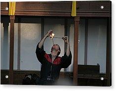 Maryland Renaissance Festival - Johnny Fox Sword Swallower - 121292 Acrylic Print by DC Photographer
