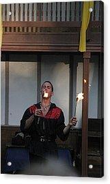 Maryland Renaissance Festival - Johnny Fox Sword Swallower - 121296 Acrylic Print by DC Photographer