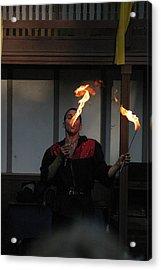 Maryland Renaissance Festival - Johnny Fox Sword Swallower - 121298 Acrylic Print by DC Photographer