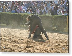 Maryland Renaissance Festival - Jousting And Sword Fighting - 1212105 Acrylic Print by DC Photographer