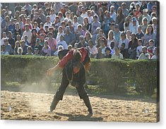 Maryland Renaissance Festival - Jousting And Sword Fighting - 1212108 Acrylic Print by DC Photographer