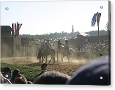 Maryland Renaissance Festival - Jousting And Sword Fighting - 1212139 Acrylic Print by DC Photographer