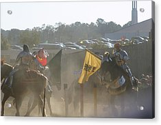 Maryland Renaissance Festival - Jousting And Sword Fighting - 1212141 Acrylic Print by DC Photographer