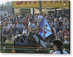 Maryland Renaissance Festival - Jousting And Sword Fighting - 1212151 Acrylic Print by DC Photographer