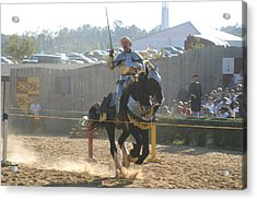 Maryland Renaissance Festival - Jousting And Sword Fighting - 1212154 Acrylic Print by DC Photographer
