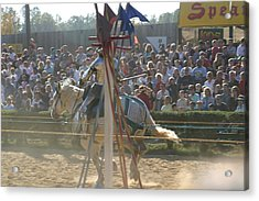 Maryland Renaissance Festival - Jousting And Sword Fighting - 1212166 Acrylic Print by DC Photographer