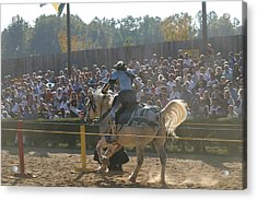 Maryland Renaissance Festival - Jousting And Sword Fighting - 1212167 Acrylic Print by DC Photographer