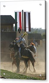 Maryland Renaissance Festival - Jousting And Sword Fighting - 1212175 Acrylic Print by DC Photographer