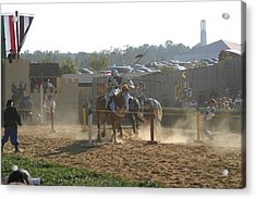 Maryland Renaissance Festival - Jousting And Sword Fighting - 1212191 Acrylic Print by DC Photographer