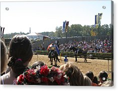 Maryland Renaissance Festival - Jousting And Sword Fighting - 1212209 Acrylic Print by DC Photographer