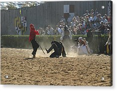 Maryland Renaissance Festival - Jousting And Sword Fighting - 121270 Acrylic Print by DC Photographer