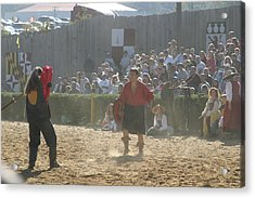 Maryland Renaissance Festival - Jousting And Sword Fighting - 121287 Acrylic Print