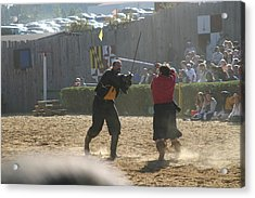 Maryland Renaissance Festival - Jousting And Sword Fighting - 121294 Acrylic Print by DC Photographer