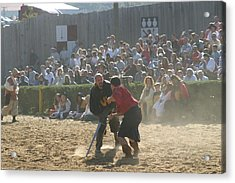 Maryland Renaissance Festival - Jousting And Sword Fighting - 121297 Acrylic Print by DC Photographer