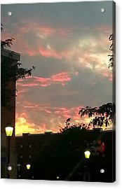 Maryland Sunset Sky Acrylic Print by Joetta Beauford