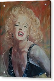 Marylin Monroe Acrylic Print by Chris Lambert