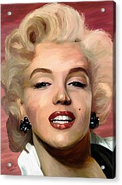 Marylin Monroe Acrylic Print by James Shepherd