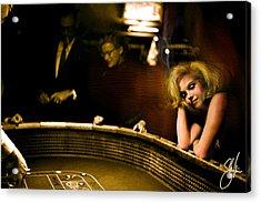 Marylin Monroe Las Vegas Acrylic Print
