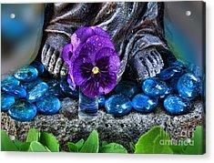 Marys Feet Acrylic Print by Renee Marie Martinez