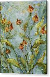 Acrylic Print featuring the painting Mary's Garden by Mary Wolf