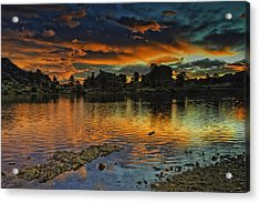 Mary's Lake Sunrise Acrylic Print by Tom Wilbert