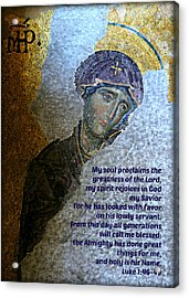 Mary's Magnificat Acrylic Print by Stephen Stookey
