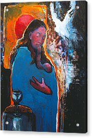 Mary's Pondering Acrylic Print