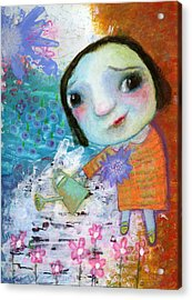 Mary's Quite Contrary Acrylic Print by Shirley Dawson