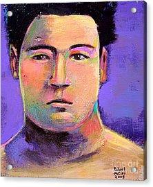Acrylic Print featuring the painting Masahiko Kimura by Robert Phelps